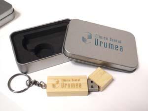 USB eco madera detalle