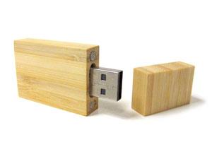 Memoria USB eco madera clara