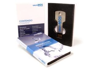 iIni Digibook USB personalizado con llave