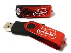 USB modelo Revolving roja personalizada