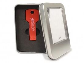 Estuche para llave USB metal window