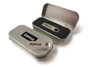 USB Kompact con caja metal personalizada