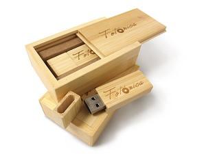 Estuche caja de madera ECO para memoria USB