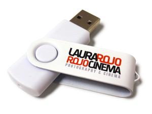 USB revolving blanco con carcasa metálica personalizada con logo